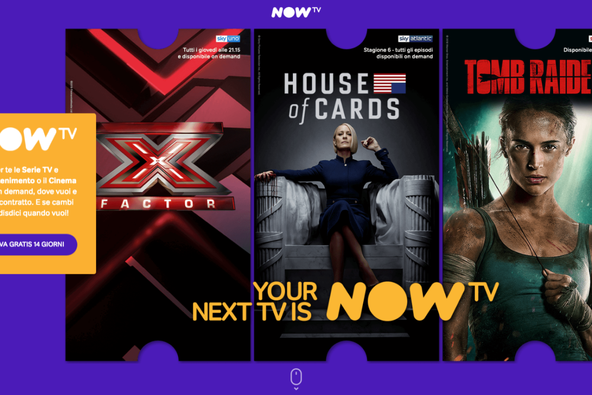 Goditi 4 mesi di film e serie tv gratis su Now Tv