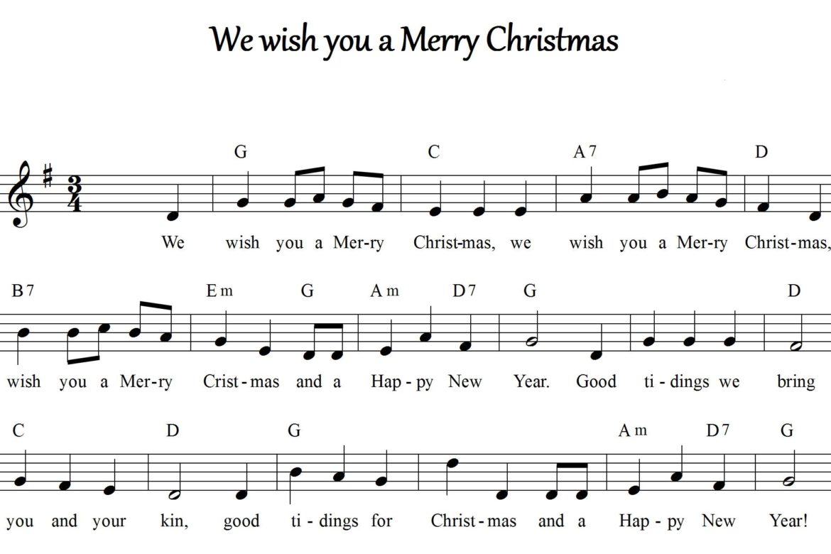 "Testo della canzone di Natale: ""We wish you a Merry Christmas"""