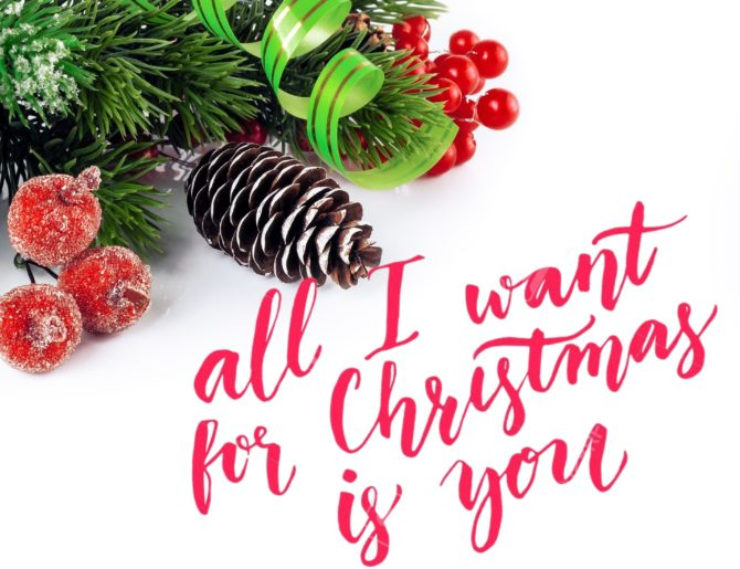 "Testo canzone di Natale ""All I want for Christmas is you"""