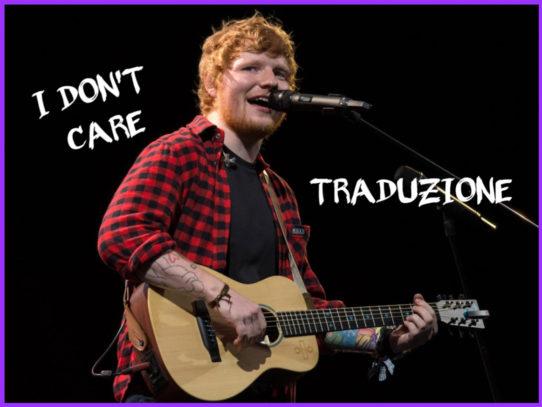 Ed Sheeran traduzione