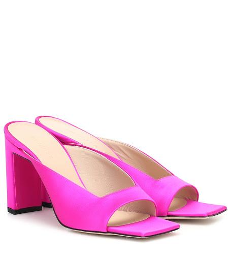 Sandali con tacco quadrato