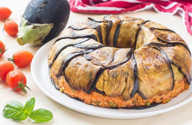 Ciambellone riso e melanzane
