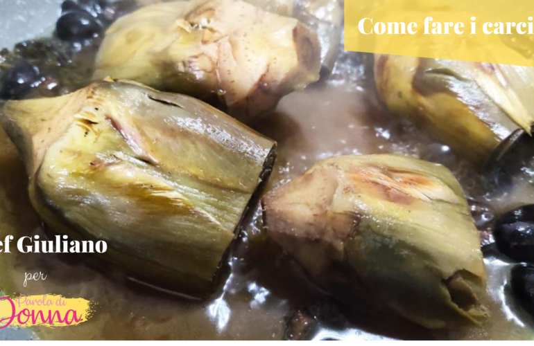 carciofi fatti in casa_ ricetta chef Giuliano